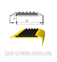 Алюминиевый порог с резиновой вставкой УЛ-151
