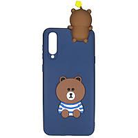 Чехол Cartoon 3D Case для Samsung Galaxy A70 Мишка