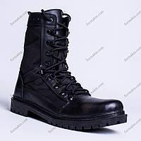 Берцы летние кожаные Сокол Черные, фото 1