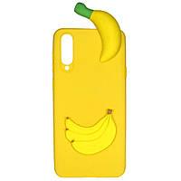 Чехол Cartoon 3D Case для Samsung Galaxy A70 Бананы