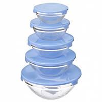 Набор стеклянных контейнеров с крышками Trend-mix Cooking Bowl 5 шт, кухонные судки
