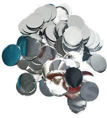 Конфетти кружочки серебро 23 мм , 250 гр