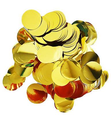 Конфетти кружочки 23 мм .золото . вес 250 гр.