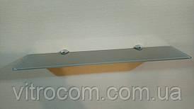 Полку 4 мм скляна пряма капучіно 50х10 см