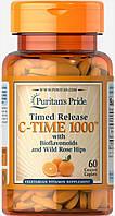 Витамины и минералы Puritan's Pride C TIME 1000 Time Release (60 таб)