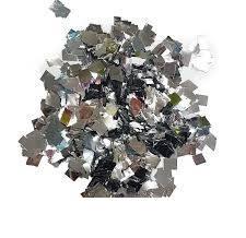 Конфетти квадрат серебро. :250 ГР.