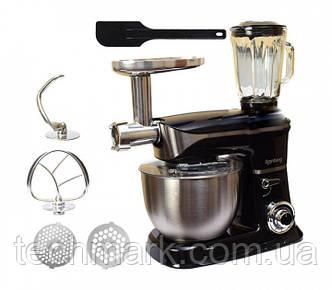 Многофункциональный Кухонный комбайн Rainberg RB-8080 3 в 1 Тестомес, Мясорубка, Блендер (2200 Вт)