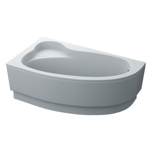 Акриловая ассиметричная ванна SWAN BIANCA 155Х95 с панелью