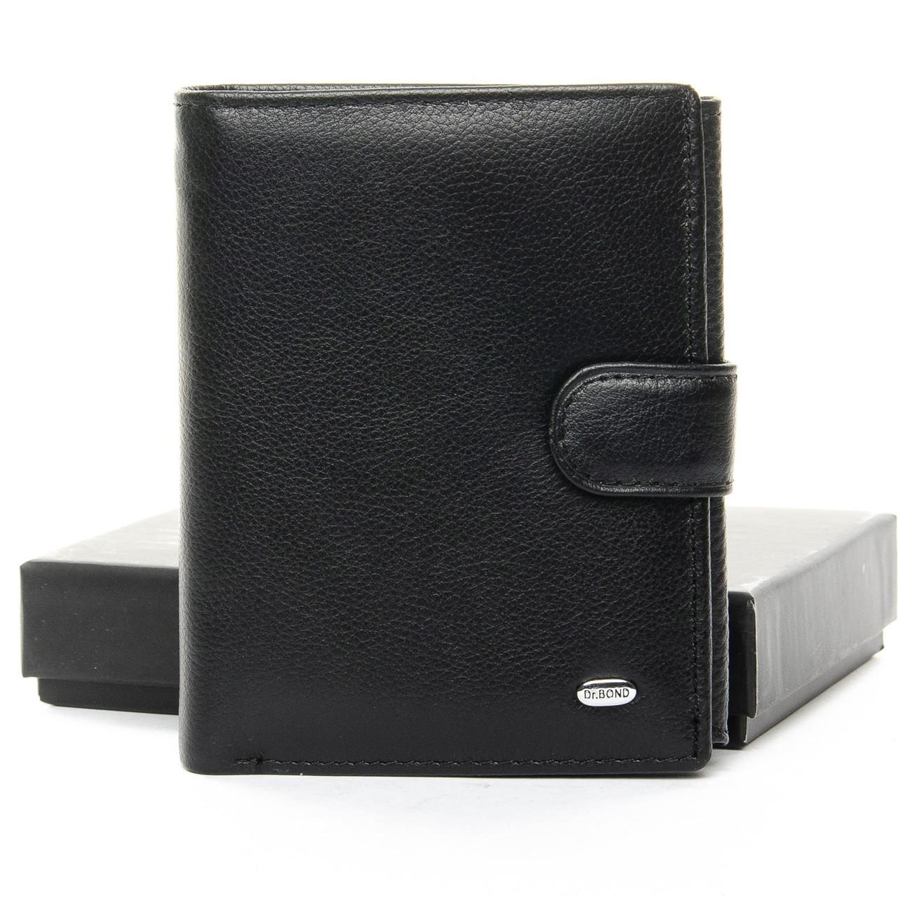 Мужской кожаный кошелек правник Dr.Bond, Натуральная Кожа