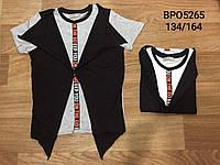 Стильная футболка для мальчиков 134/164 см