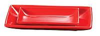 Блюдо прямоугольное красное Riwall A1653W14 23х14 см