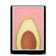 Постер на стену Акварельное авокадо