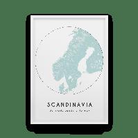 Постер на стену Scandinavia map