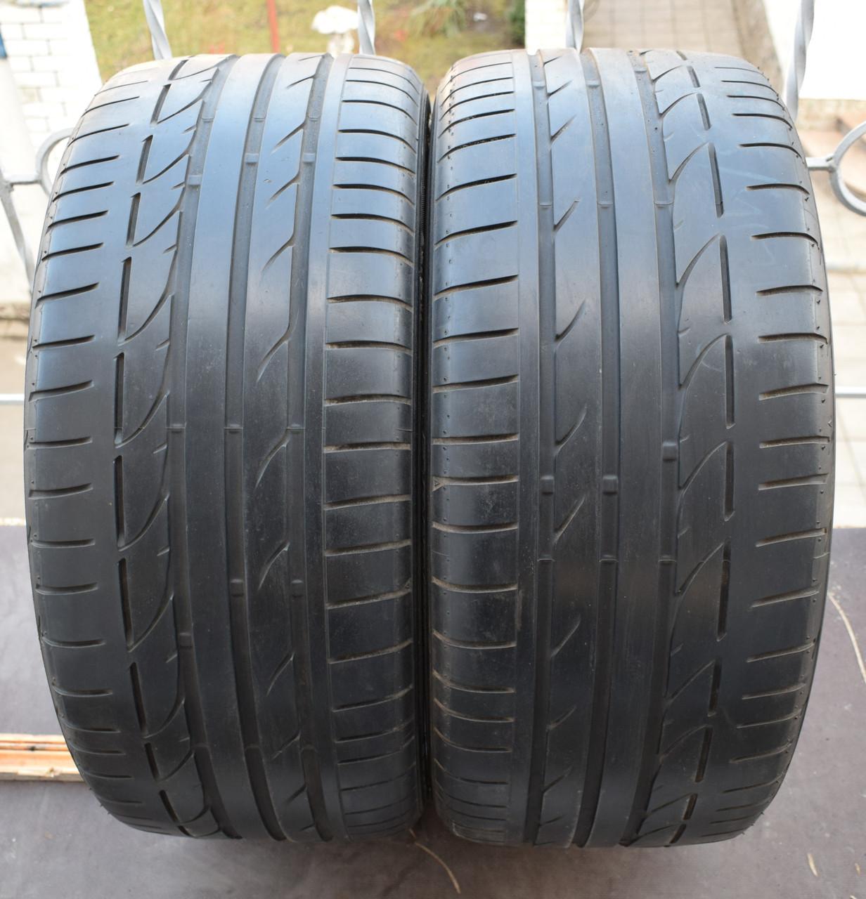 Шины б/у 255/40 R19 Bridgestone Potenza S001, ЛЕТО, пара, 5мм
