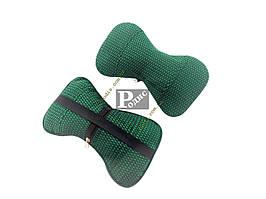 Автомобильная подушка для шеи (зеленая) - Подушка на подголовник универсальная