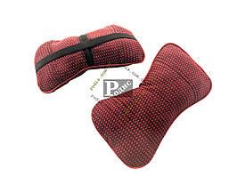 Автомобильная подушка для шеи (красная) - Подушка на подголовник универсальная