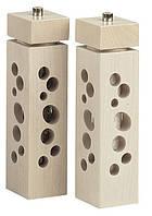Мельница для перца квадратная белая Bisetti 4161B 24,5 см