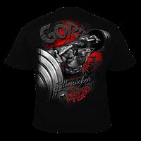 Футболка мужская для бодибилдинга Silberrucken Gorilla Power 9 черная Л