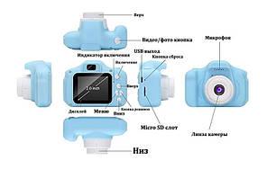 Детский фотоаппарат GM14 голубой, фото 3