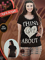 "Комплект шорты футболка турецкий трикотаж ""Ночной ангел""."