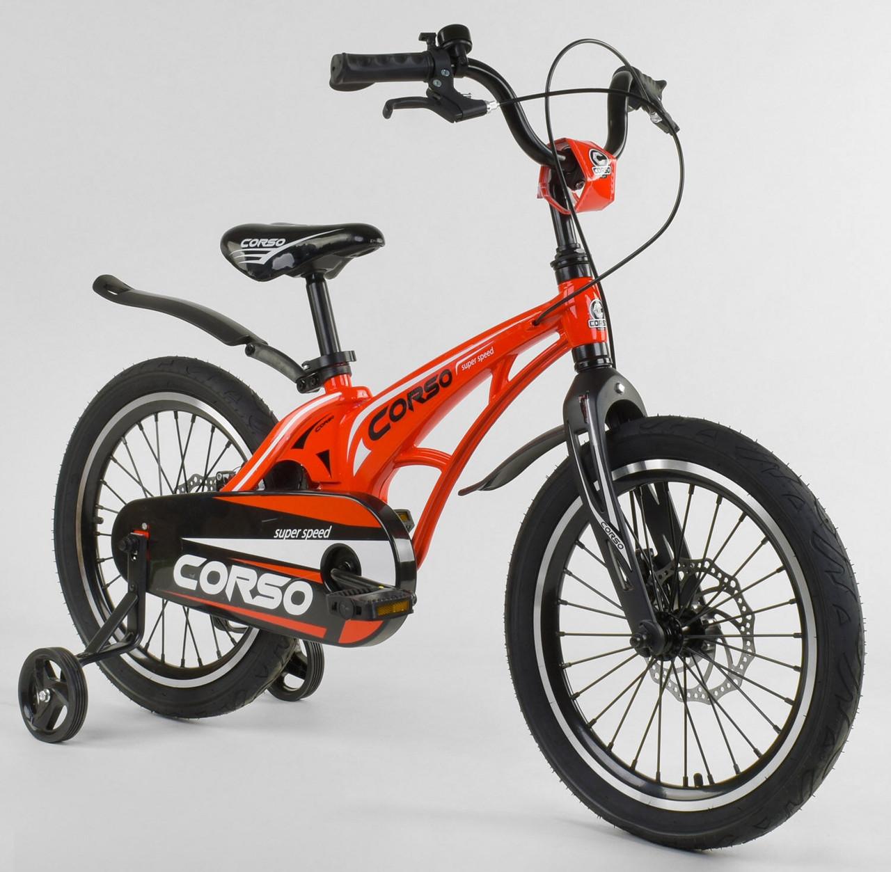 """Велосипед 18"""" дюймов 2-х колёсный """"CORSO"""" MG-18 W 009 КРАСНЫЙ 86852"""