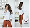 Женская однотонная коттоновая рубашка с длинным рукавом. 3 цвета!