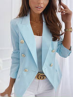 Пиджак женский стильный с длинным рукавом с пуговицами на весну (Норма)