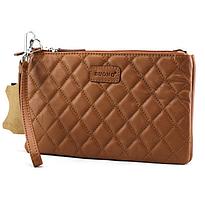 Жіноча шкіряна сумка cross-body Buono, коричневого кольору