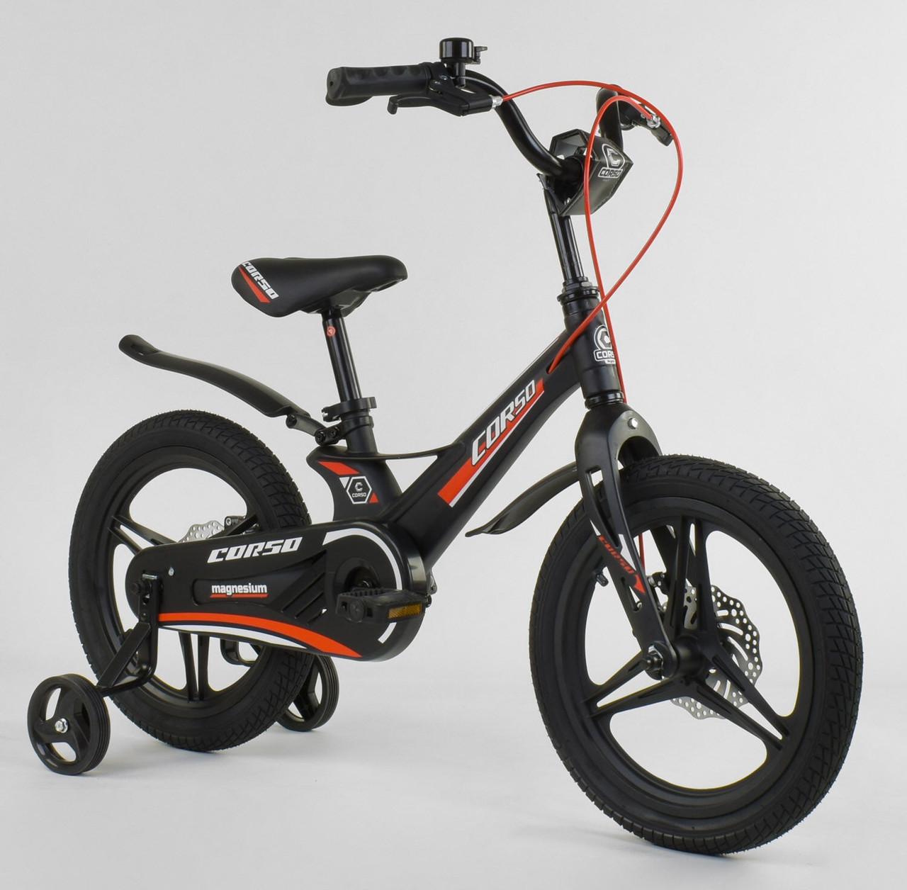"""Велосипед 16"""" дюймів 2-х колісний """"CORSO"""" MG-27308 ЧОРНИЙ 86808"""