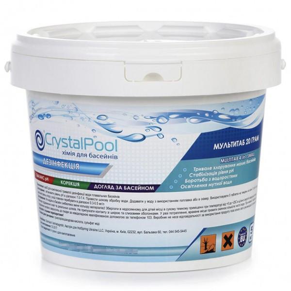 Многофункциональные таблетки Crystal Pool MultiTab 4-in-1 Small 5 кг по 20 грамм