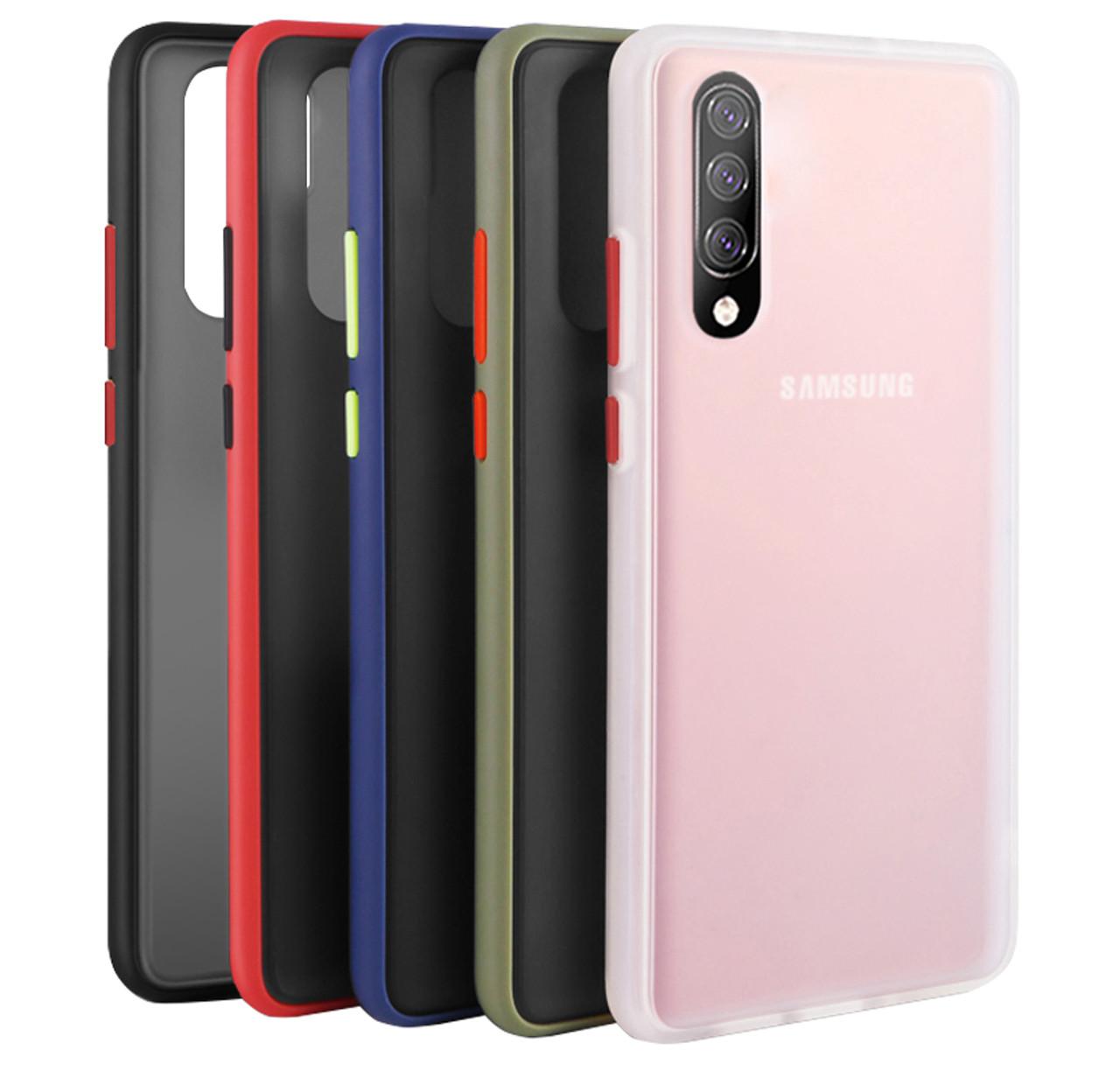 Чехол-накладка TPU+PC Color Buttons Shield для Samsung Galaxy A50 (2019) SM-A505F