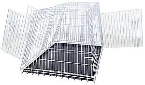 Клетка для собак в авто, цинк, 2 двери, 93х79х68см