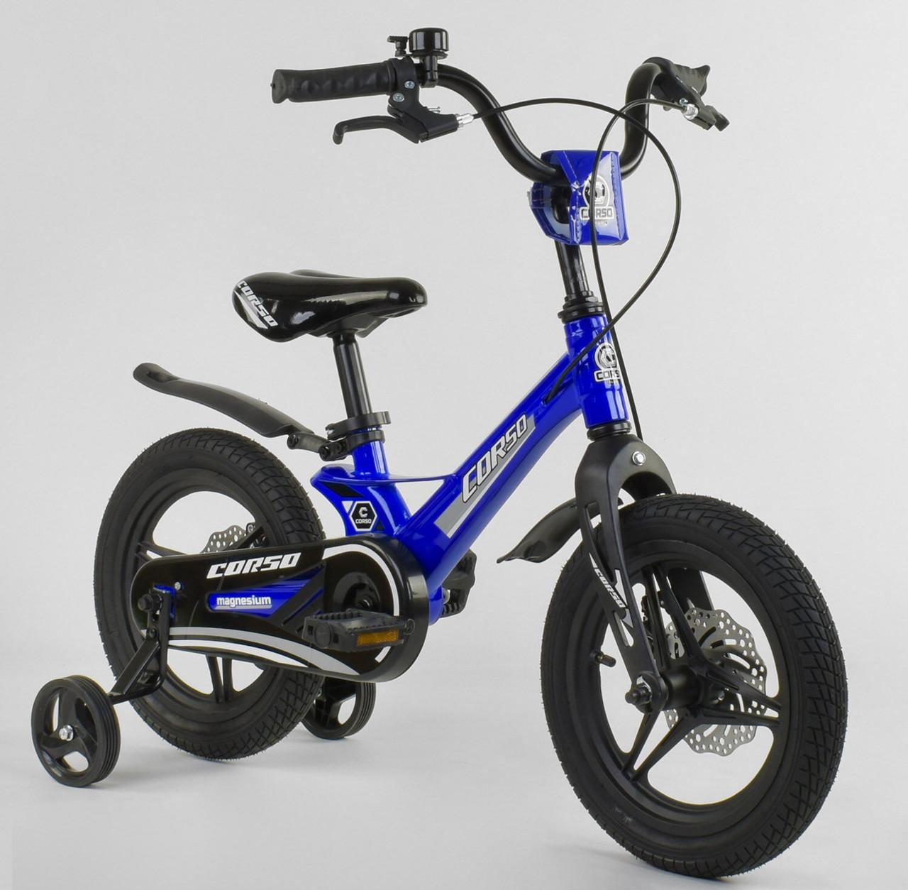 """Велосипед 14"""" дюймов 2-х колёсный """"CORSO"""" MG-85328 СИНИЙ 86847"""