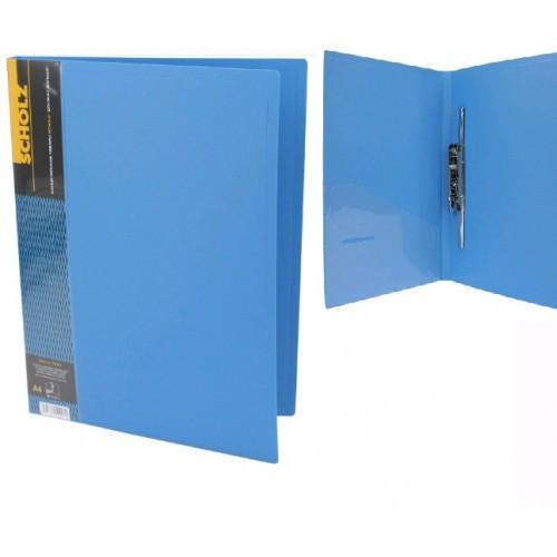 Папка с длинные. нажимом А4 SCHOLZ 05502 с карманом синяя 700мкн РР (1/20)