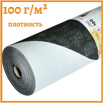 Мембрана черная гидроизоляционная 100 г/м² (1,5*50)