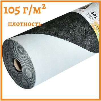 Мембрана черная гидроизоляционная 105 г/м² (1,5*50)