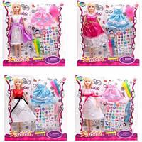 Кукла KAIBIBI 29см BLD170 / BLD170-1 платье-раскраска наклейки маркеры.2в.2цв.кор.32 * 5 5 * 30