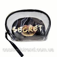 Набор женских косметичек Secret Gold (силикон, ПВХ, текстиль)