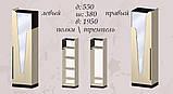 Шафа з дзеркалом МастерКлас МШ-30 Арья венге+дуб молочний, фото 2