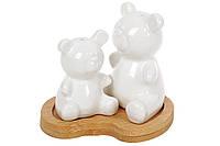 Набор для специй Мишки: соль и перец на бамбуковой подставке Naturel, 10см BonaDi 375-390
