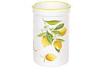 Подставка для кухонных принадлежностей керамическая Сочные лимоны BonaDi DM959-Y