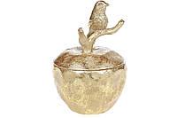 Шкатулка для украшений Яблоко, 14см, цвет - золото BonaDi 440-825