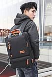 Рюкзак міський чоловічий. Чоловічий рюкзак сумка для ноутбука, фото 4