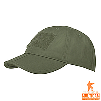 Бейсболка складывающаяся Helikon-Tex® Baseball FOLDING Cap® - PolyCotton Ripstop - Olive Green, фото 1