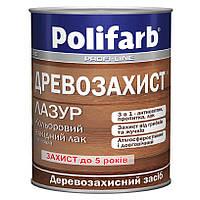 Лазурь деревозащита алкидный лак, Каштан, Polifarb 0,7 кг