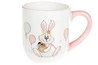 Кружка керамическая 500мл с объемным рисунком Веселый кролик BonaDi DM135-E