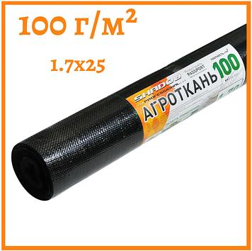 Агроткань черная 100 г/м²  1.7 х 25 м.
