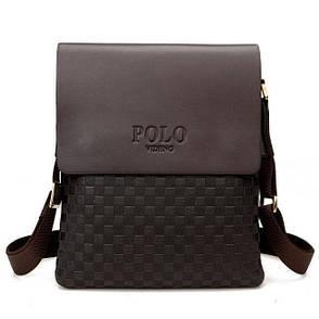 Качественная мужская кожаная сумка Polo Videng New, фото 2