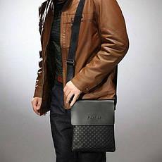 Качественная мужская кожаная сумка Polo Videng New, фото 3