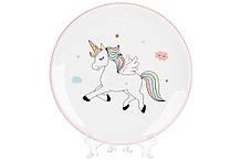 Тарелка керамическа 17см Волшебный единорог BonaDi DM157-E